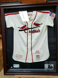 Stan Musial Cardinals Signed Autographed Twice 1941-63 Numbered Cir Of Authent