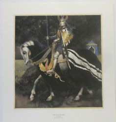 Blue Knight By Alan Lee 1982 Signed + Numbered Print 257/1000