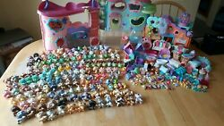 Huge Lot Of Littlest Pet Shop LPS  With 159 Pets & Accessories