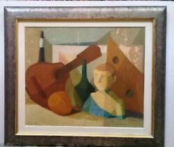 VTG American artist James Brooks  Oil canvas painting - NY