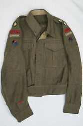 Ww2 Canadian Rce Engineers Officers Battle Dress Jacket Pacific Force