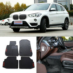 Full Set All Weather Heavy Duty Black Rubber Floor Mats For Bmw X1