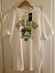 New Genuine John Deere Tractor Tri-County Fair Champion tee shirt Size Large L $14.24