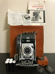 Rare Polaroid 110B Pathfinder Land Camera With Accessories And Case West Germany