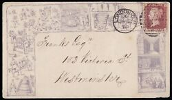 Sg43 1879 1d. Rose-red Plate 105 Cover With 11 Panels Depicting Beer/ Wine ...