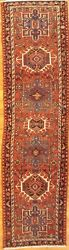 Antique Hand-knotted Per Karajeh Runner Rug - 2and0399x10and0395