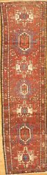 Antique Hand-knotted Per Karajeh Runner Rug - 2and0398x9and03911