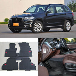 Full Set All Weather Heavy Duty Black Rubber Floor Mats For Bmw X5 2014