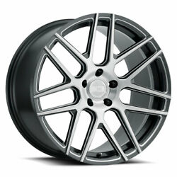 22 Xo Moscow Grey 22x9 22x10.5 Forged Concave Wheels Rims Fits Porsche Macan