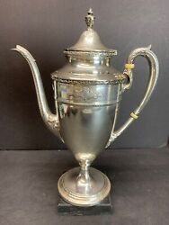 Antique 18th C Reed And Barton Eagle/r/lion Mark Sterling Silver Coffee Pot 366 G