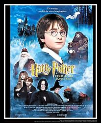 Harry Potter And Pilosopher Stone B 4x6 Ft French Movie Poster Original 2001