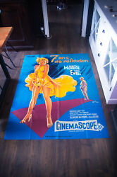 Seven Year Itch 4x6 Ft French Grande Movie Poster Rerelease 1965
