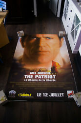 The Patriot Mel Gibson 4x6 Ft Bus Shelter D/s Movie Poster Original 2000