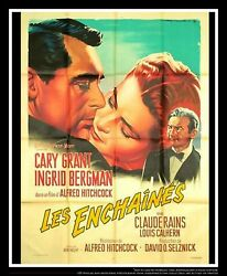 Notorious A. Hitchcock 4x6 Ft French Grande Movie Poster 1948 Rerelease 1958