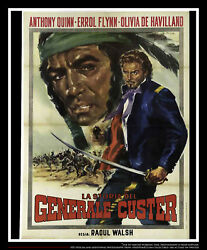 They Died With Boots On 39 X 55 Italian Two Sheet Movie Poster Rerelease 1941
