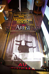 The Artist 4x10 Ft Double Bus Shelter Original Movie Poster 2011