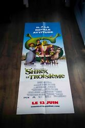 Shrek 3 20 X 60 French Door Panel Movie Poster Original 2007