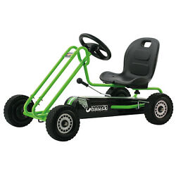 Ride On Pedal Go Kart For Kids Three Point Steering Sporty Bucket Seat