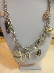 Unique Juicy Couture Necklace With 9 Charms
