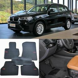 Full Set All Weather Heavy Duty Black Rubber Floor Mats For Bmw X3
