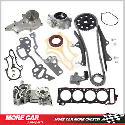 Timing Chain Kit Cover Oil Water Pump Gasket Fit 85-95 Toyota 4runner Pickup 2.4