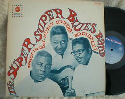 The Super Blues Band Lp Howlin' Wolf Muddy Waters Bo Diddley Checker Lps-3010