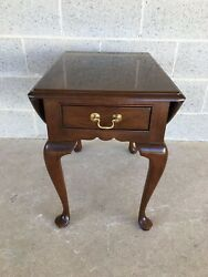 Stickley Cherry Valley Queen Anne Drop Leaf Side Table - End Table
