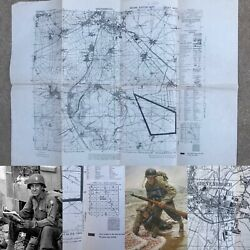 Wwii Rare 29th Infantry Division D-day Grevenbroich Germany Combat Map Ww2 Relic
