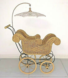 Vintage Child's Toy Doll Stroller Baby Carriage Possibly Vintage Reproduction