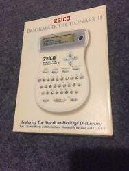 Zelco Electronic Bookmark Dictionary Ii Handy Compact Travel Reference W/calc