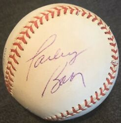 Only Known Parley Baer Died 2002 Psa/dna Signed Baseball Andy Griffith Show