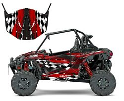 Polaris Rzr 1000 Xp Graphic Kit Oem Upper Lower Doors Wrap 24 Mil Thick 3500red