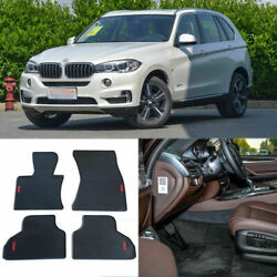 Full Set All Weather Heavy Duty Black Rubber Floor Mats For Bmw X5 F15 2014-2016