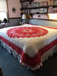 Hand Made And Hand Quilted King Size Quilt