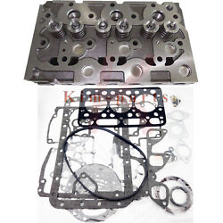 New Complete Cylinder Head Assy Valves And Full Gasket Set For Kubota D1101 Dh1101