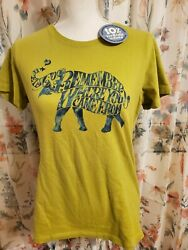 Life Is Good Green Elephant Remember Where You Came From Top Medium