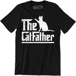 The Catfather T-shirt Cat Dad Pet Lover Gift Ideas Fathers Day Daddy Tee Shirt