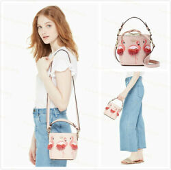 NWT Authentic $398 Kate Spade BY THE POOL Flamingo Pippa Leather Pink Bucket Bag $239.88