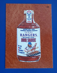 2016 Wacky Packages Ans14 Leather 52 Texas Rangers Bbq Sauce /3 @@ Rare @@