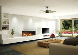 European Home 40 Linear Clean Face Electric Single Sided Fireplace W/ Bluetooth