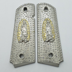 Luxury 1911 Full Size Grips Virgin Mary Lady Of Guadalupe 1911 Grip Nickel
