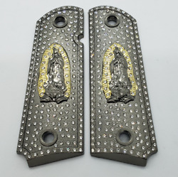 Luxury 1911 Full Size Grips Virgin Mary Lady Of Guadalupe 1911 Grip Black Grips