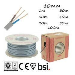 10mm Twin And Earth Cable Tande Grey Electric Shower Circuits Oven Circuits