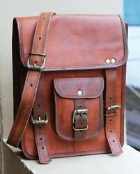 Bag Leather Vintage Messenger Shoulder Men Laptop School Briefcase Satchel S New $37.99