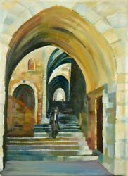 Walk In Jerusalem Signed By Artist High Definition Print On The Canvas
