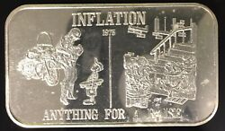 Inflation Death Valley Mint Ussc-86 999 Silver Art Bar 1 Troy Oz Current Events