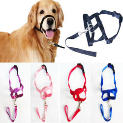 Dog Muzzle Halti Style Head Collar Stops Dog Pulling Halter Training Reigns NEW-