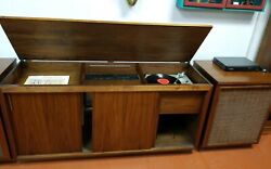 Vintage Barzilay Entertainment Center With Jbl Lx8 Cabinet Speakers