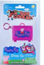 PEPPA PIG WORLDS COOLEST. Keychain suitcase and outfits.