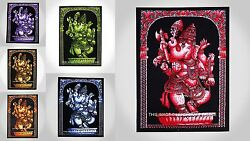 20 PC Indian Lord Ganesha Wall Hanging Dorm Poster Cotton Ganpati Wall Tapestry